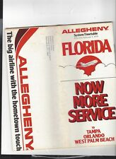 Allegheny Airlines  February 1 1979  timetable