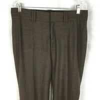 Banana Republic Womens Jackson Fit Brown Wool and Spandex Dress Pants 8