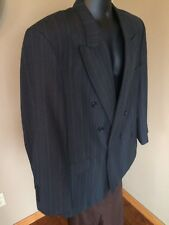 Towncraft Dark Gray w/ Subtle Purple/Blue Stripes Suit Jacket 44R wool blend men