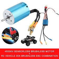 Motor sin escobillas Sensorless 2838 4500KV Y Combos 35A Brushless ESC para RC Coche