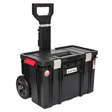 XXL Mobiler Werkzeugkoffer Werkzeugkasten Rollen Trolley Kunststoff Alu schwarz