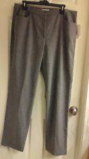 Calvin Klein, women's size 14, Gray, Thick High Quality dress Pants, NWT $150