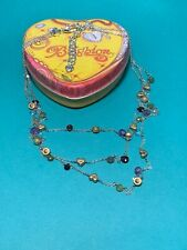 """BRIGHTON Silver """"Eye Candy"""" Multi Color Triple Strand Necklace NWOT"""