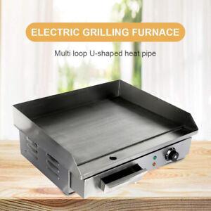 3 KW Grillplatte Gastro Elektrische Griddleplatte Bratplatte Elektro 55x43 cm