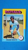 1975 TOPPS MINI BASEBALL #569 FRANK WHITE ROYALS NMMT