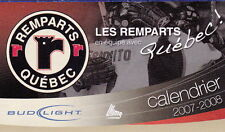 2007-08 QUEBEC REMPARTS HOCKEY POCKET SCHEDULE - FRENCH