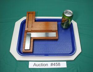 "Starrett No.55 6"" Hardened  Beveled Edge Square Machinist CNC #55 #458"