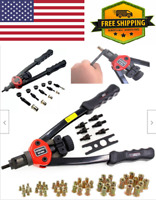 Rivet Gun Kit Rivnut Thread Setting Tool Nut Setter NutSert Metric SAE Riveting