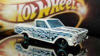 Hot Wheels 2010 1965 Ford Ranchero 1/64 Loose Pearl White FLAMES