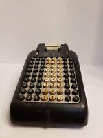 Vintage Victor Adding Machine Hand Crank Antique Black Decorative Piece Hipster