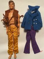 Vintage 1968 Live Action Ken Doll Barbie PLUS Original Outfit AND The Sea Scene!