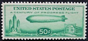 U.S. Mint #C18 50c Graf Zeppelin, Superb. NH. Large Margins. A Gem!  Scott: $90