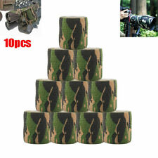 10 Roll Camo Wrap Tape Airgun Camouflage Stealth Webbing Fabric Tape 4.5m