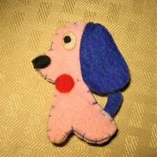 VINTAGE BARBIE ACCESSORY 4 CLOTHES OR FASHION PINK FELT DOG!