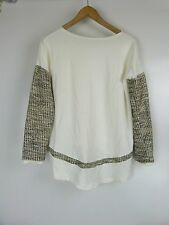 GENERATION LOVE Knit top Sz XS/S, 8, 10 Cream gold