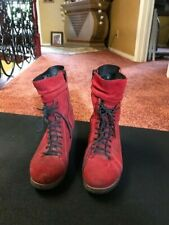 wolky red suede shoes 6.5