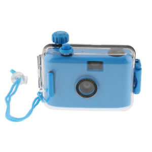 Waterproof Lomo 35mm Film Camera with Case, 16ft Underwater, Reusable, Blue