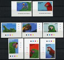Guyana 1993 Vögel Ara Sittiche Hyazinthara 4045-4052 U Imperf MNH / 482