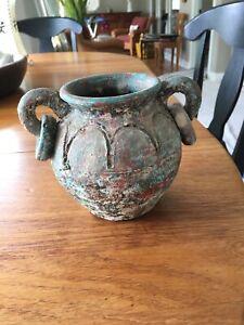 Antiqued Earthen Vase