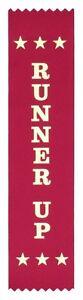 25 Runner Up Award Ribbons 200 x 50 mm - Metallic GOLD print