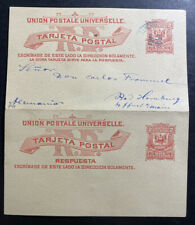 1889 Dominican Republic Stationery Reply Postcard Cover To Hamburg Germany