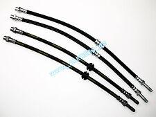4x Tubo flexible de frenos/Manguera freno eje delantero y TRASERO PARA BMW E46