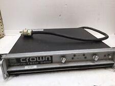 Crown Macro Tech 2400 Amplifier 2 Channel 900 Watts ~ Works