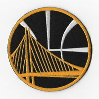 NBA Golden State Warriors Iron on Patches Embroidered Badge Patch Black & Gold