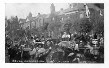 Lincoln Royal Procession Royalty 1907 unused old postcard C Askew Good cond