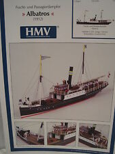 Frachtschiff Passagierdampfer Albatros Kartonbausatz NEU Bastelbogen Kartonmodel