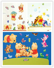 3 x CUTE DISNEY WINNIE THE POOH REMOVABLE WALL STICKER KIDS ROOM NURSERY DECOR