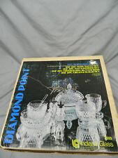 NIB Vintage Diamond Point 9 Pc. Dining Service Set 7313 Crystal