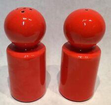 SICART 657 ITALY Spagnolo Vintage design orange stone pepper & salt shaker