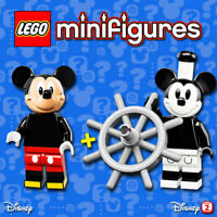 LEGO Disney Minifigures #71012, #71024 - Mickey Mouse / Steamboat Willie - NEW