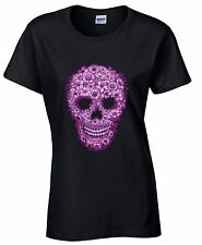 Flower Skull WOMEN T-SHIRT Day Of Dead Celebration Mexican Gothic Tee Death Gift
