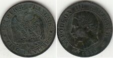 Monnaie 5 centimes Napoléon III Tête Nue 1856 A