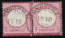 D.Reich Stempel K2 PONOSCHAU 18 10 72 auf Paar Nr. 4 (56679)