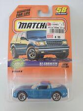 1997 Matchbox '97 Corvette #58 - Blue - China Base