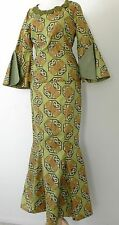 Vtg Hippie Skirt Suit Bell sleeve Top/Mermaid Maxi Skirt Size XS/S Multicolor