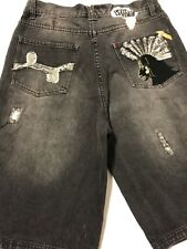 LR Geans Shorts Mens Sz.32-Cotton-Black Distressed