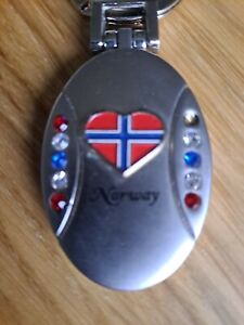NORWAY Keyring Locket and Mirror