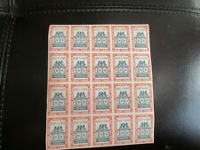 1947 Cent. Intern. Phil. Exh. Cinderella Stamps,Sheet of 20 ,Mint /Gummed-RB1332