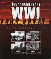 Liberia Military Stamps 2014 MNH WWI WW1 World War I Major Battles Somme 4v M/S