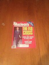 Maclean's Magazine The FLQ Crisis October 15 1990 Canada Rare George Bain