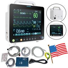 New Listingportable Icu Ccu Patient Monitor Vital Signs Cardiac Machine Fda12 Inch Screen