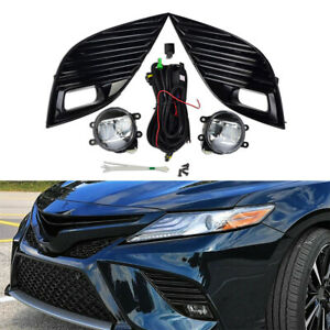 Pair Front Bumper Fog Light Lamps w/ Switch Kit For Toyota Camry SE XSE 18-2019