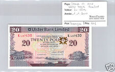 IRLANDE DU NORD - ULSTER BANK LIMITED - 20 LIVRES - 1.1.2010 - PICK ND