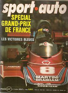 SPORT AUTO 174 1976 GP DE SUEDE TYRRELL P34 24H DU MANS ROVER 3500 LANCIA GAMMA