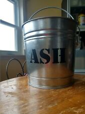 ASH Vinyl STICKERS Decal Label for pellet stove fireplace ash bucket can