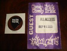 Cheap Trick Concert Memorabilia Davis Park Rockford Il 2005 Backstage Pass, Pick